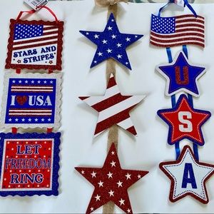 Fourth of July Hanging Decor | Set of 3 | New
